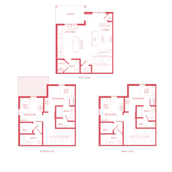 4x4.5 Townhome