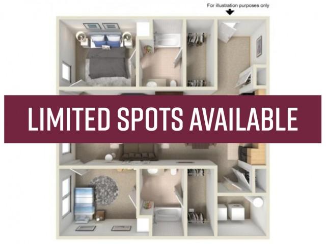 2BR/2BA - limited spots