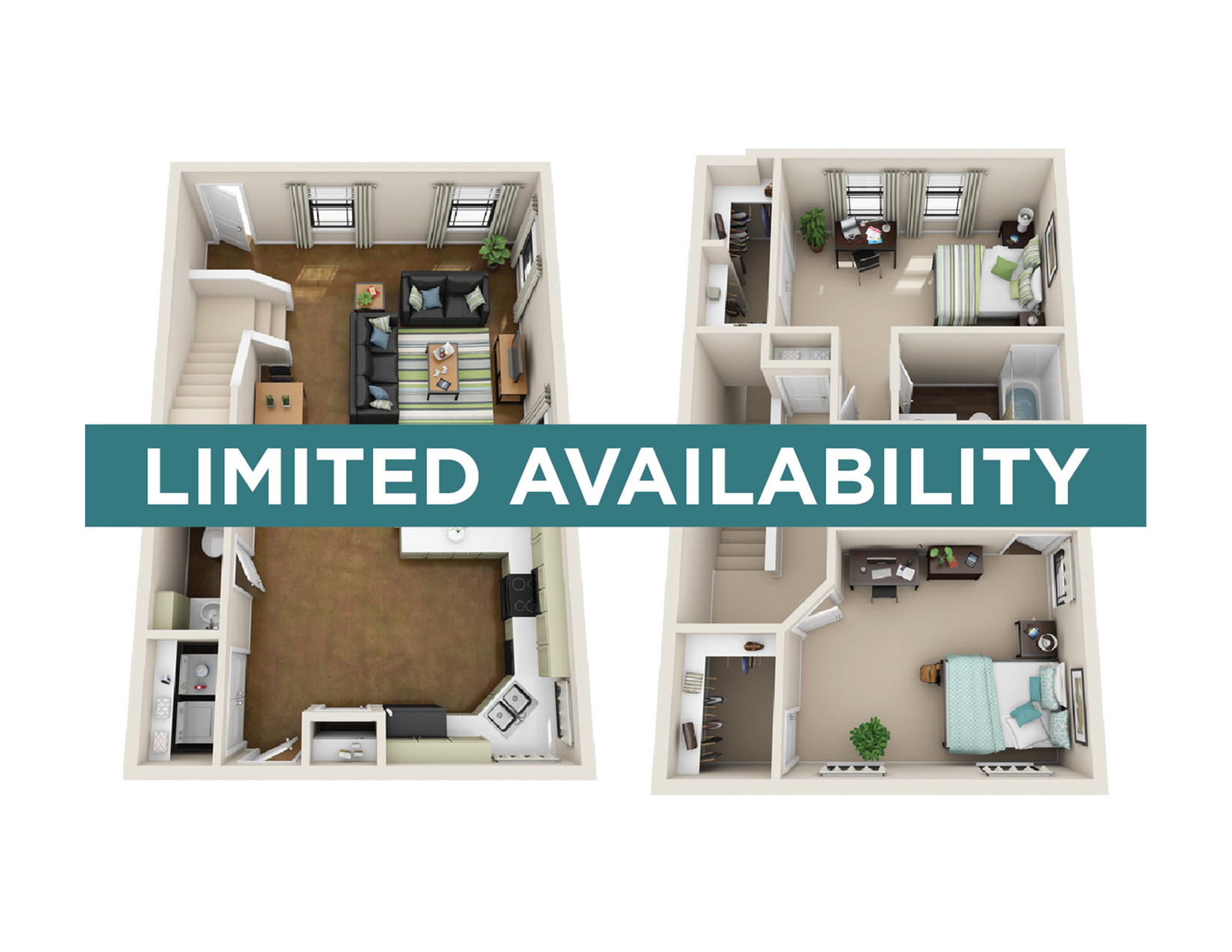 2BR/2.5BA - Unfurnished - limited availability