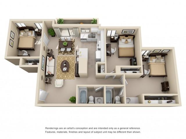 3 bedroom apartments riverside ca
