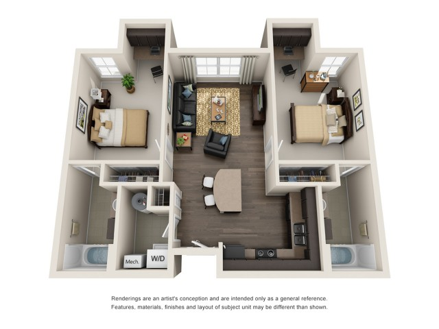 2 Bedroom 2 Bathroom B1 2 Bed Apartment Mazza Grandmarc