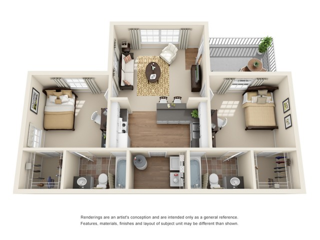 2 bedroom apartment in lafayette la