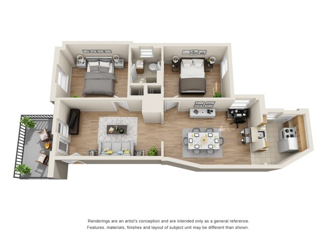 2 Bedroom 1 Bathroom 2 Bed Apartment Pierce Arrow