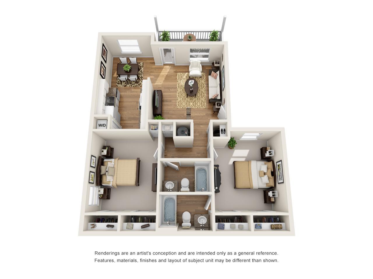 2 bedroom in laurel ridge