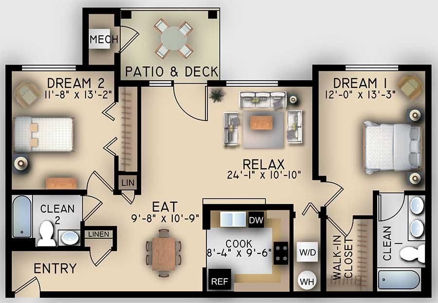 Retreat 2 Bedroom