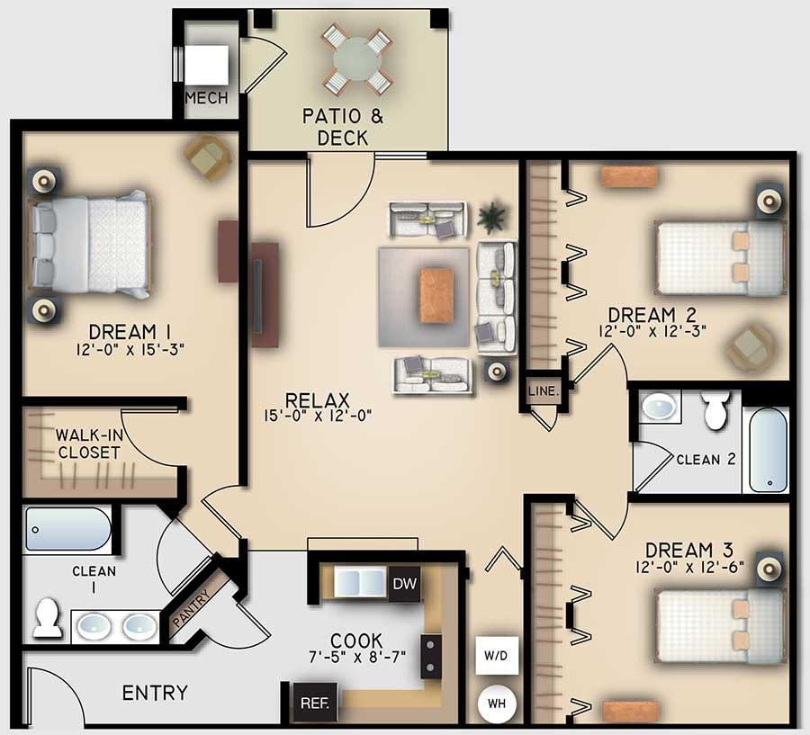 Retreat 3 Bedroom