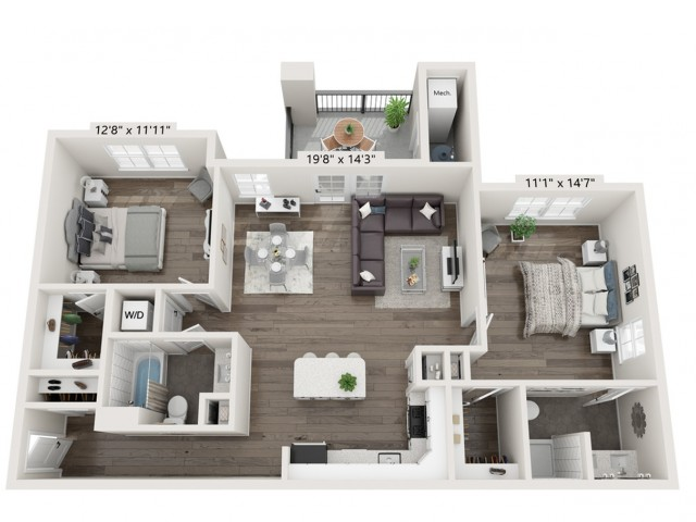 The Reserve on East 2 Bedroom