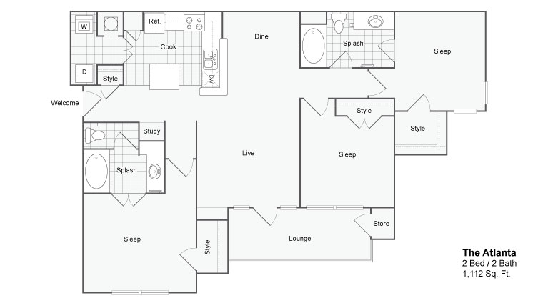 Floor Plan 6 | Luxury Apartments In Atlanta | The Artisan Luxury Apartment Homes