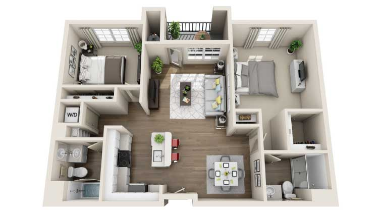 Arrive Los Carneros Apartments For Rent Goleta CA 93117 Floor Plan
