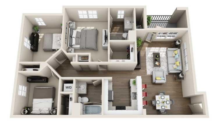Arrive Los Carneros Apartments For Rent Goleta CA 93117 Floor Plan