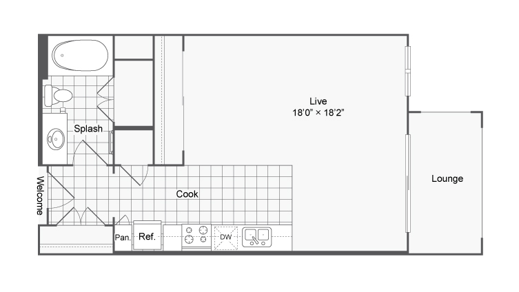Floor Plan 1 | Luxury Apartments In Brookhaven GA | The Mille Brookhaven Apartment Homes