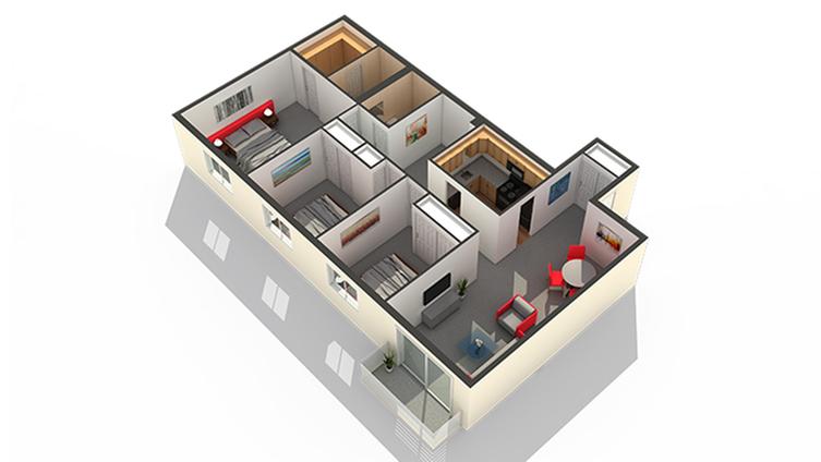 Bedroom Floor Plan | Apartments In Highwood IL | Arrive North Shore