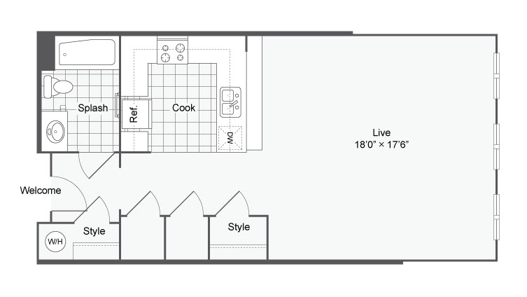 Floor Plan 3 | Alamo Heights Luxury Apartments | Arrive Eilan