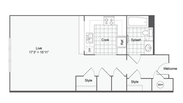 Floor Plan 4 | Alamo Apartments San Antonio TX | Arrive Eilan