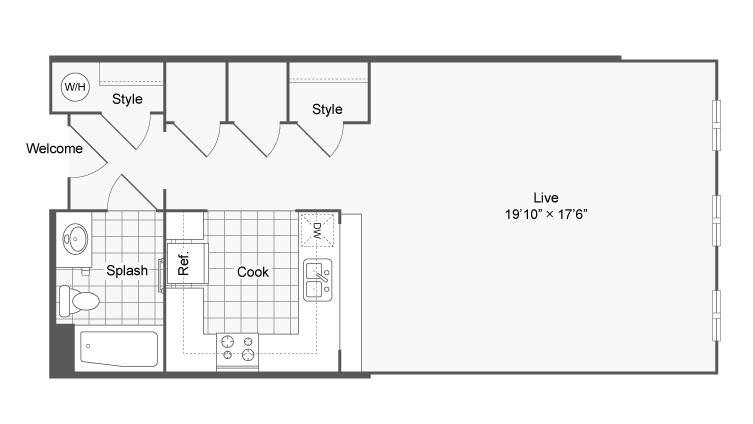 Floor Plan 5 | Apartments In Alamo Heights TX | Arrive Eilan