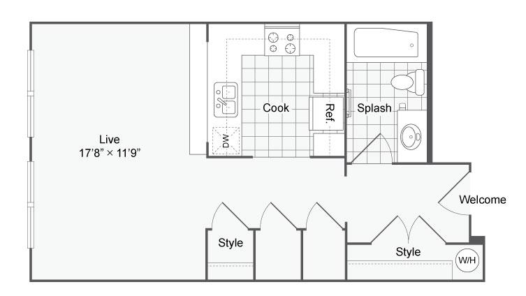 Floor Plan 13 | Alamo Heights Luxury Apartments | Arrive Eilan