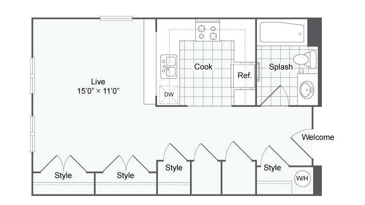Floor Plan 15 | Apartments In Alamo Heights TX | Arrive Eilan