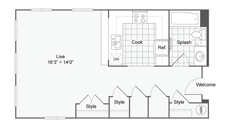 Floor Plan 16 | Apartments In Alamo Heights San Antonio | Arrive Eilan