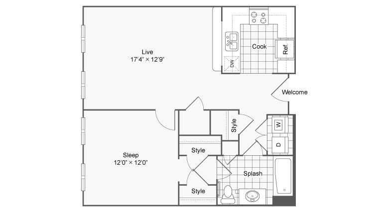 Floor Plan 18 | Alamo Heights Luxury Apartments | Arrive Eilan
