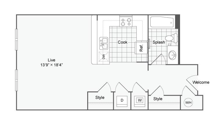 Floor Plan 20 | Alamo Apartments San Antonio TX | Arrive Eilan