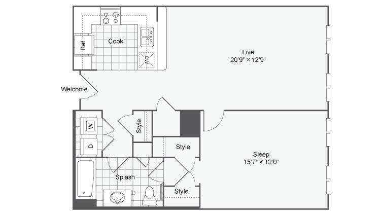Floor Plan 27 | | Alamo Apartments San Antonio TX | Arrive Eilan