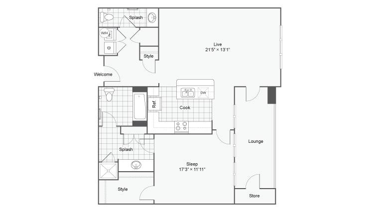 Floor Plan 36| Alamo Apartments San Antonio TX | Arrive Eilan