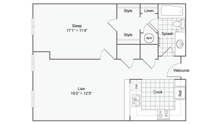 Floor Plan 69| Alamo Apartments San Antonio TX | Arrive Eilan