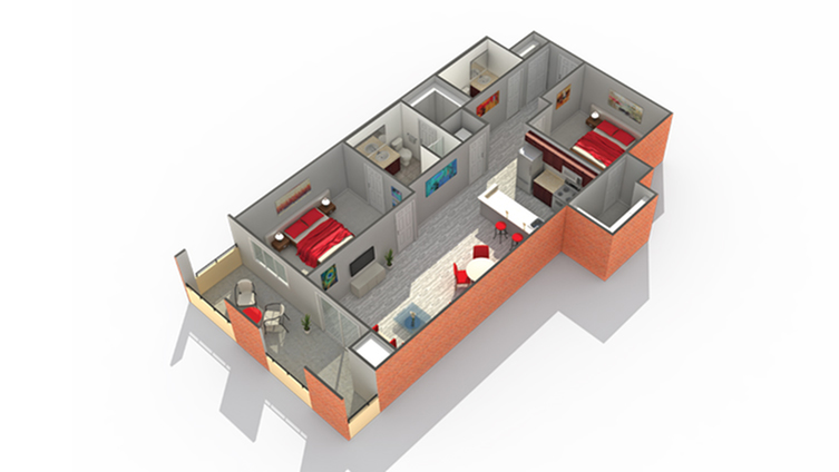 Arrive South Loop Apartment Homes for Rent in Chicago IL 60616 Floor Plan