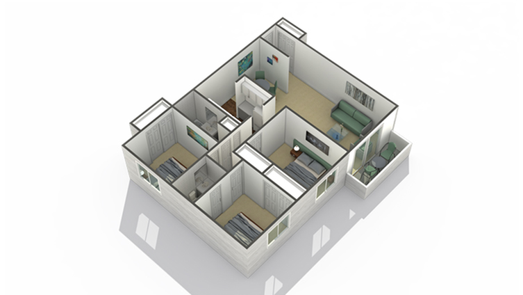Evergreen 3 Bed Apartment The Preserve At Woodfield