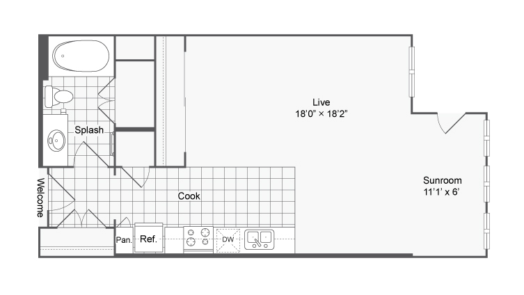 Floor Plan Image | Apartments For Rent In Brookhaven GA | The Mille Brookhaven Apartment Homes