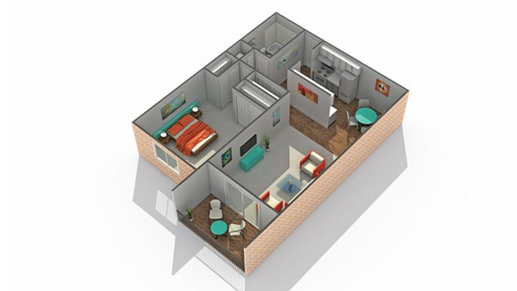 Floor Plan 1 | Eden Prairie Luxury Apartments | ReNew Eden Prairie