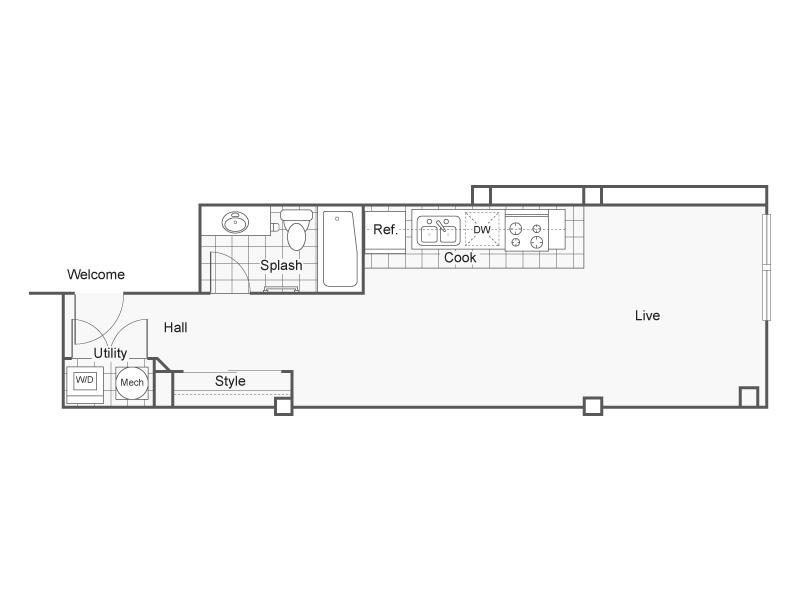 Floor Plan 8   Wichita Kansas Apartments   ReNew Wichita