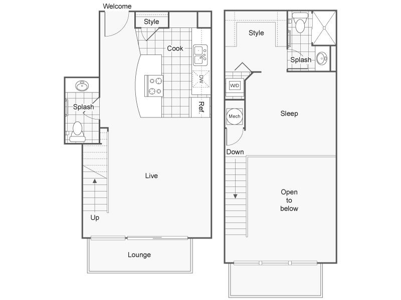 Floor Plan 22   Studio Apartments Downtown Wichita KS   ReNew Wichita