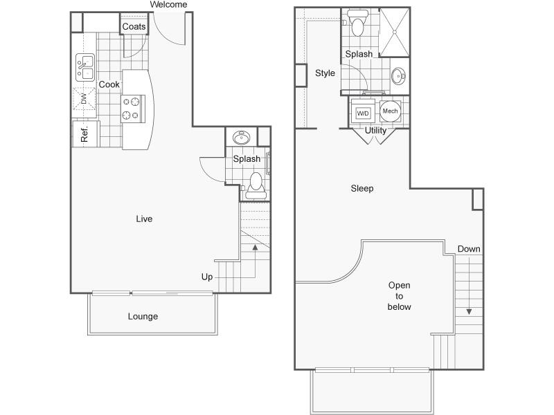 Floor Plan 38   Wichita Kansas Apartments   ReNew Wichita