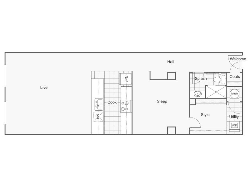 Floor Plan 41   Apartments In Wichita KS   ReNew Wichita