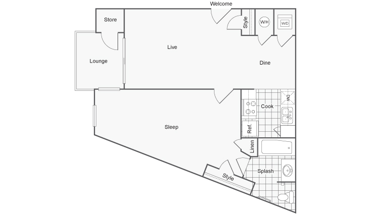 Floor Plan | ReNew Creve Coeur Apartment Homes for Rent in Creve Coeur MO 63141