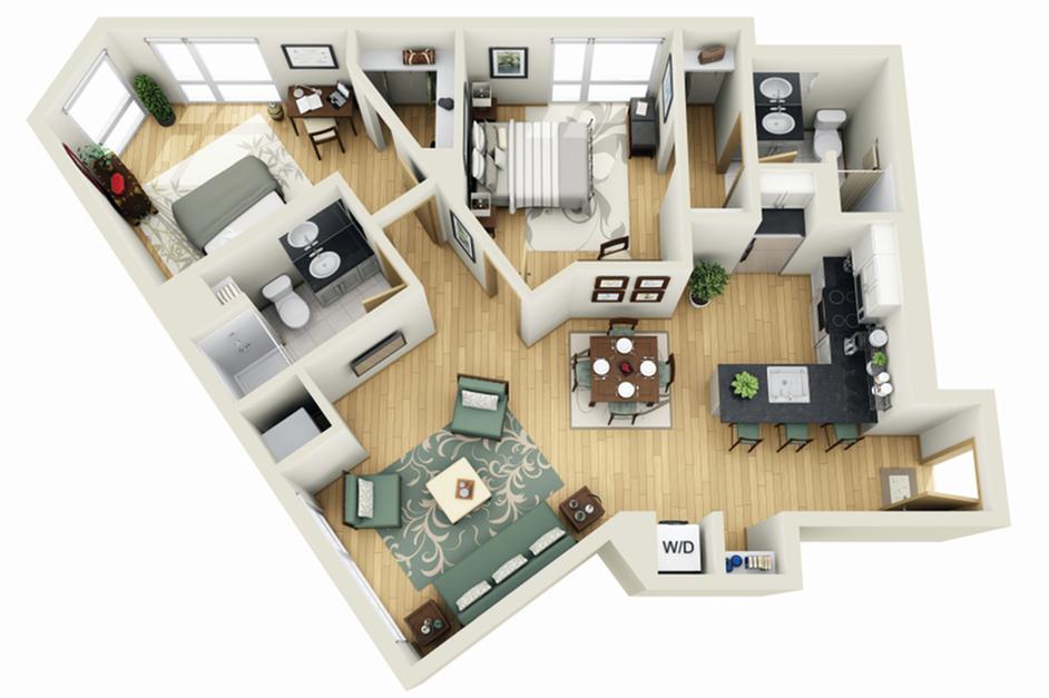 Floor Plan 21 | Luxury Apartments Minneapolis MN | Solhaus Apartments
