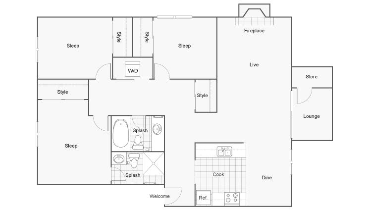 Floor Plan | ReNew 2900 Apartment Homes for Rent in Las Vegas, NV 89102
