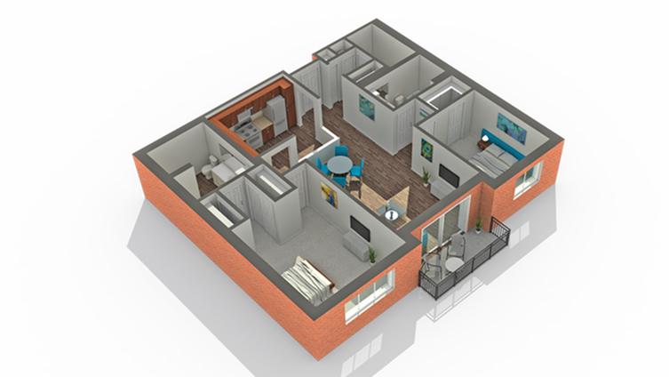 Floor Plan | Apartments Vernon Hills IL | Arrive Town Center