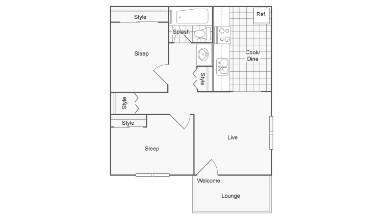 Floor Plan 4 | Port Orchard Apartments | The Clubhouse at Port Orchard