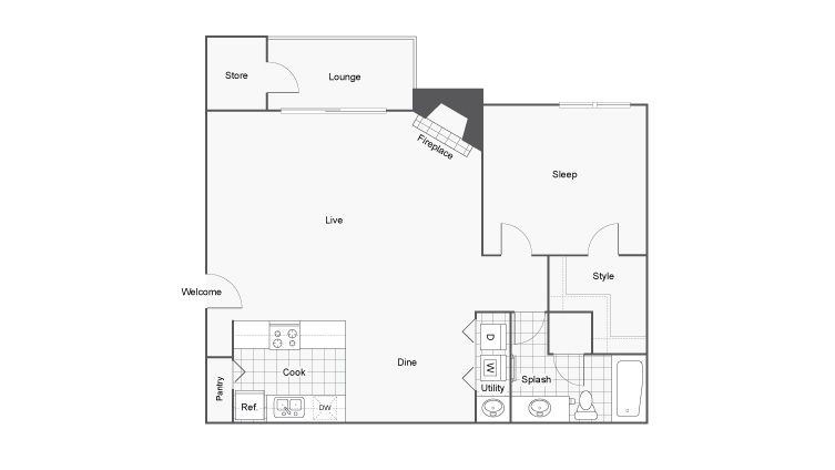 Floor Plan | ReNew Cross Creek Apartment Homes for Rent in St. Louis MO 63125