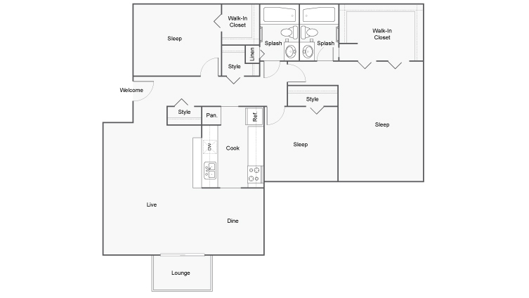 Floor Plan Images | ReNew Hyde Park Apartment Homes for Rent in Midland TX 79707