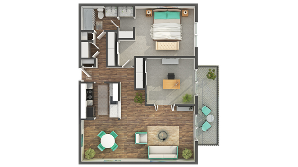 Floor Plan | ReNew on York Apartment Homes for Rent in Bensenville IL 60106