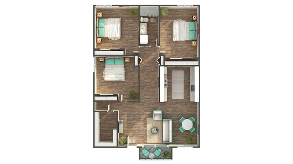 Floor Plan Layout   ReNew Park Viva Apartment Homes for Rent in Fairfield CA 94533