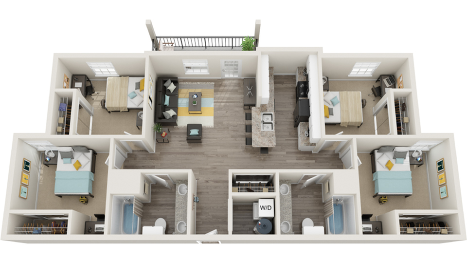 Floor Plan Images | The Social 1600 Apartment Homes for Rent in Tallahassee FL 32303