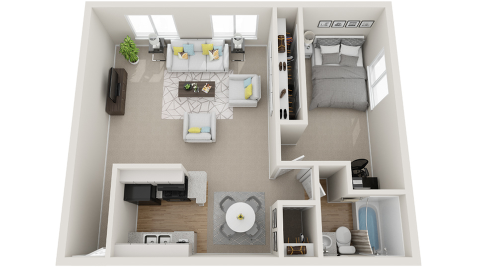 One Bedroom One Bath A 1 Bed Apartment Dwell Apartment Homes