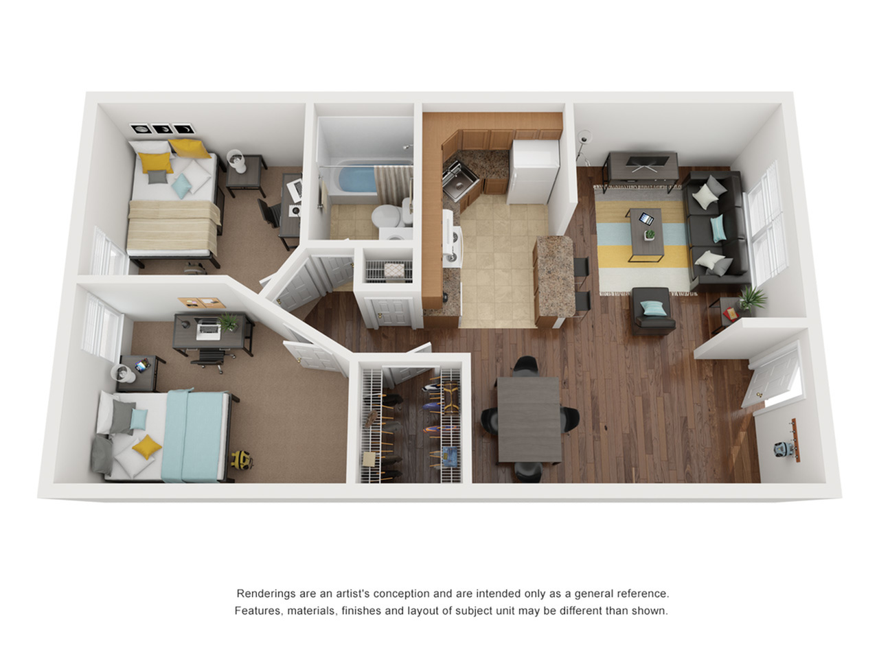 Floor Plans | The Social Grand Forest Apartment Homes for Rent in Knoxville TN 37916