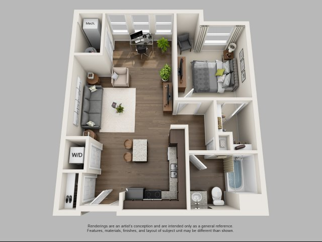 The Peppermint 1 Bed Apartment Infinity At Centerville Crossing