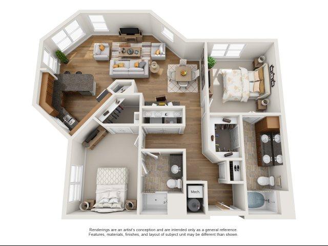 The Master 2 Bed Apartment Aura At Quarterpath