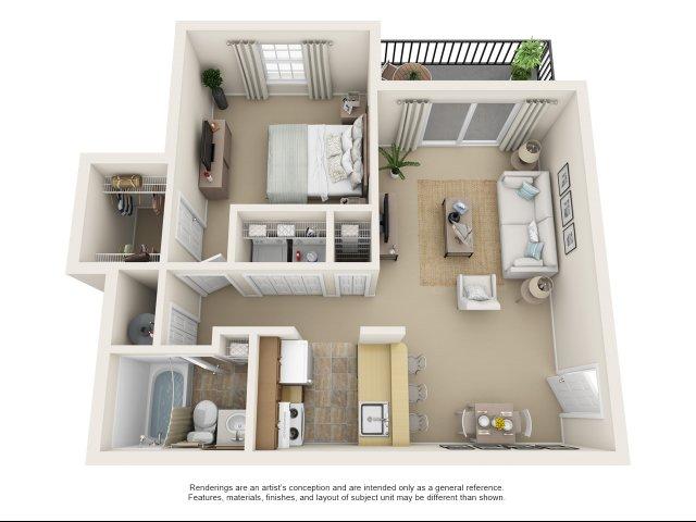 1 bedroom, 1 bathroom apartment Chesapeake, VA